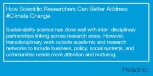 Sustainability Science interdisciplinary